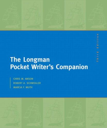 Longman Pocket Writer's Companion  3rd 2009 edition cover