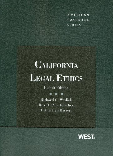 California Legal Ethics  8th 2012 (Revised) edition cover