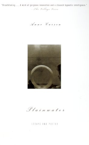 Plainwater Essays and Poetry  2000 edition cover