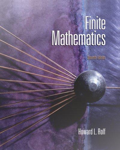 Finite Mathematics  7th 2008 edition cover