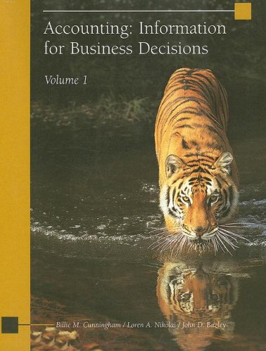 Accounting: Information for Business Decisions, Volume 1 N/A 9780759395428 Front Cover