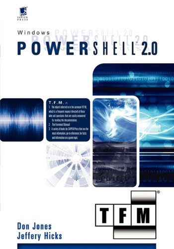 Windows PowerShell? 2. 0 : Tfm N/A 9780982131428 Front Cover