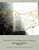 STATISTICS F/BEHAVIORAL SCI.>C N/A 9781133358428 Front Cover
