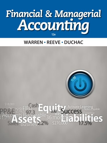Financial and Managerial Accounting  12th 2014 edition cover