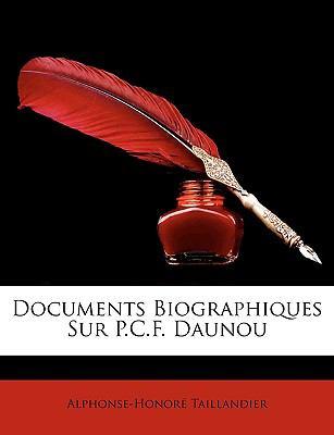 Documents Biographiques Sur P C F Daunou  N/A edition cover