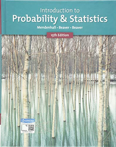 Introduction to Probability and Statistics:   2019 9781337554428 Front Cover