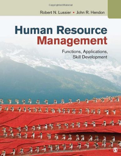 Human Resource Management Functions, Applications, Skill Development  2013 9781412992428 Front Cover