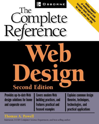 Web Design Complete Reference  2nd 2002 (Revised) 9780072224429 Front Cover