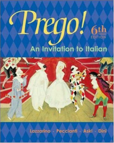 Prego! An Invitation to Italian: Student Prepack with Bind-In Card 6th 2004 (Revised) edition cover