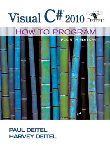 Visual C# 2010 How to Program  4th 2011 edition cover