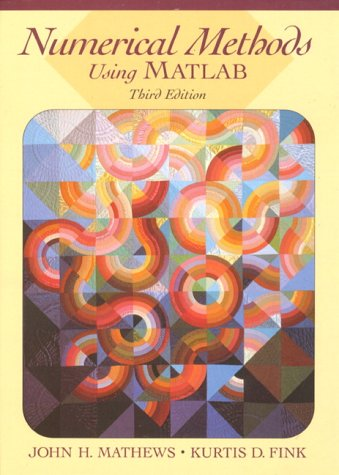 Numerical Methods Using MATLAB  3rd 1999 edition cover
