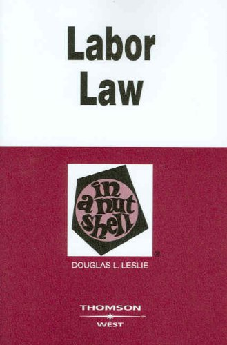 Labor Law in a Nutshell  5th 2008 (Revised) edition cover