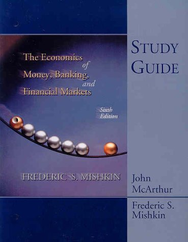 ECON.OF MONEY,BANK...-STD.GDE. 6th 2001 9780321085429 Front Cover