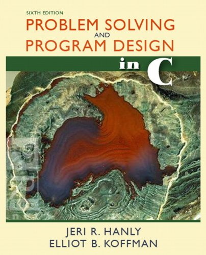 Problem Solving and Program Design in C  6th 2010 edition cover