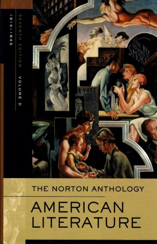 Norton Anthology of American Literature, 1914-1945  7th 2007 edition cover