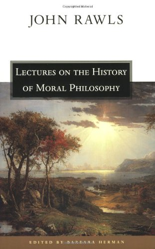 Lectures on the History of Moral Philosophy   2000 edition cover