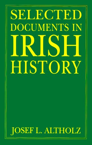 Selected Documents in Irish History   2000 (Reprint) edition cover