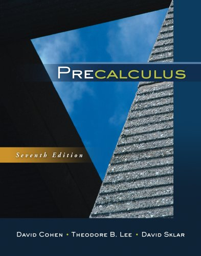 Precalculus  7th 2012 9780840069429 Front Cover