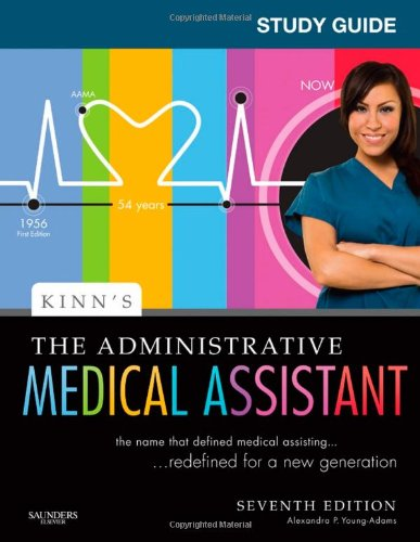 Study Guide for Kinn's the Administrative Medical Assistant An Applied Learning Approach 7th edition cover