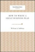 How to Write a Great Business Plan   2008 edition cover