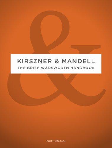 Brief Wadsworth Handbook  6th 2010 edition cover