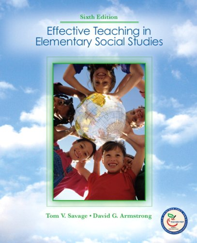 Effective Teaching in Elementary Social Studies  6th 2008 edition cover