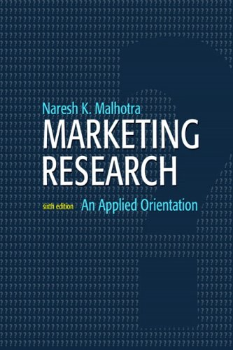 Marketing Research An Applied Orientation 6th 2010 edition cover