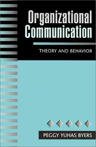 Organizational Communication Theory and Behavior 1st 1997 edition cover