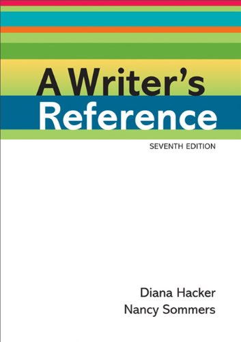 Writer's Reference  7th 2011 edition cover