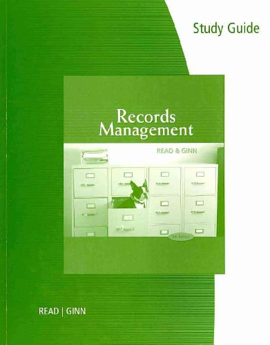 Records Management  9th 2011 9780538731430 Front Cover