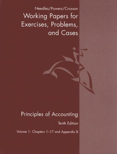 Principles of Accounting and Principles of Financial Accounting Working Papers  10th 2008 9780618736430 Front Cover