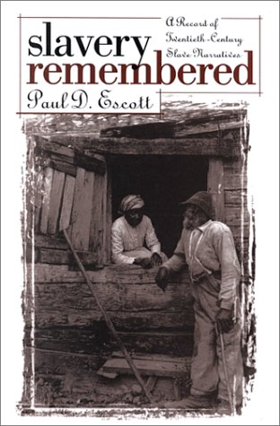 Slavery Remembered A Record of Twentieth-Century Slave Narratives  1979 edition cover
