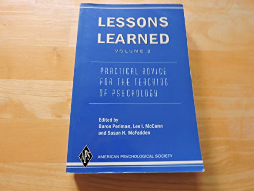 Lessons Learned Vol. 2 : Practical Advice for the Teaching of Psychology  2004 edition cover