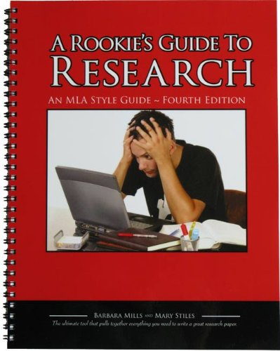 Rookie's Guide to Research An MLA Style Guide 4th 2009 edition cover