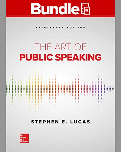 ART OF PUBLIC SPEAKING (LL)-W/CONNECT   N/A 9781260693430 Front Cover