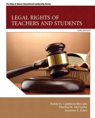 Legal Rights of Teachers and Students  3rd 2014 9780132619431 Front Cover