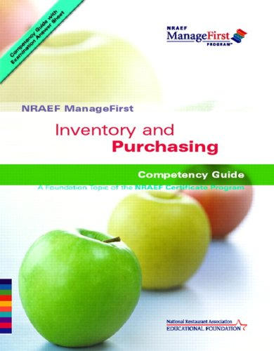 ManageFirst Inventory and Purchasing with Pencil/Paper Exam and Test Prep   2007 9780135072431 Front Cover