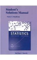 Student's Solutions Manual for A First Course in Statistics  11th 2013 (Revised) edition cover