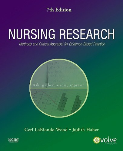 Nursing Research Methods and Critical Appraisal for Evidence-Based Practice 7th 2009 edition cover