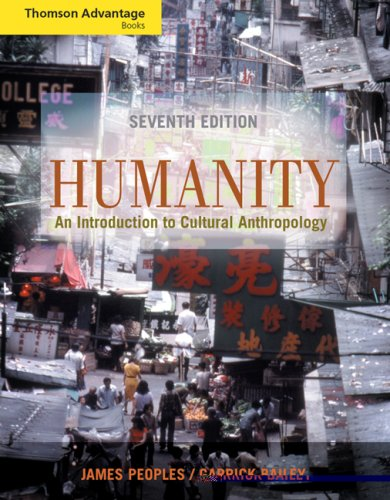 Humanity An Introduction to Cultural Anthropology 7th 2006 (Revised) 9780534646431 Front Cover