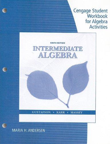 Intermediate Algebra  9th 2011 (Workbook) 9780538495431 Front Cover