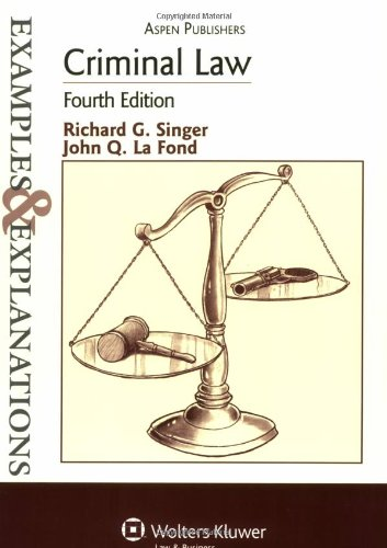 Criminal Law 4th Edition 4th 2007 (Student Manual, Study Guide, etc.) edition cover