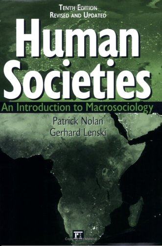 Human Societies An Introduction to Macrosociology 10th 2005 edition cover