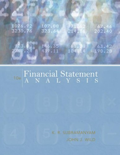 Financial Statement Analysis  10th 2009 edition cover