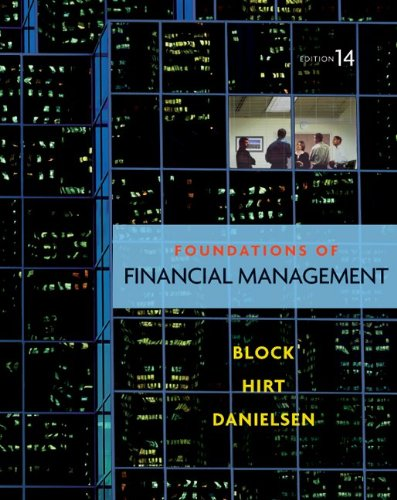 Foundations of Financial Management with Time Value of Money Card  14th 2011 edition cover
