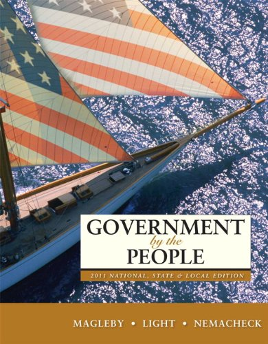 Government by the People 2011 National, State, and Local 24th 2011 edition cover