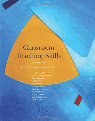 Classroom Teaching Skills  9th 2011 edition cover