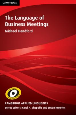 Language of Business Meetings   2010 9780521133432 Front Cover
