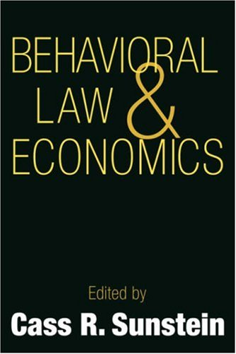 Behavioral Law and Economics   2000 9780521667432 Front Cover