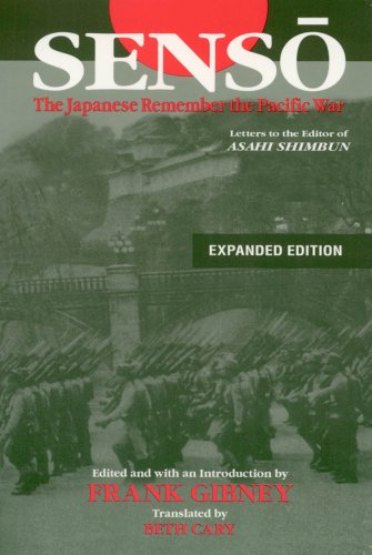 Senso The Japanese Remember the Pacific War 2nd 2007 (Revised) edition cover